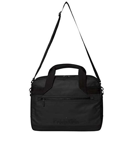 Calvin Klein Jeans METRO LAPTOP BAG K50K501175 Herren Umhängetaschen 41x29x11 cm (B x H x T), Schwarz (BLACK 001 001) (Metro Laptop-tasche)