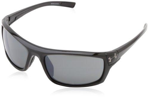 Under Armour Unisex Keepz Sonnenbrille Gr. 55 mm, Shiny Black & Black Rubber