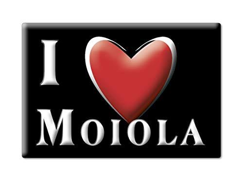 1156 Support (Enjoymagnets MOIOLA Souvenir Piemonte (CN) KÜHLSCHRANK Magnet Fridge ICH Liebe Gift I Love (VAR. Black))