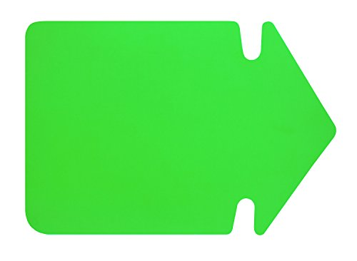 folia 669 941 - Werbesymbol Pfeil, ca. 35 cm, 20 Stück, leuchtgrün aus doppelseitigem Leuchtkarton