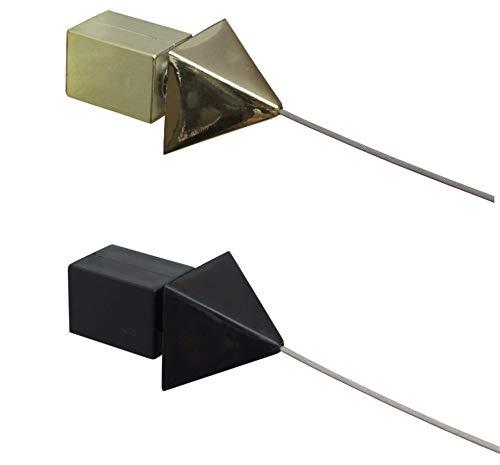 Seilspann-Garnitur - Seilspannsystem - NIRO-Drahtseil, 5 m lang, 4 Farben (schwarz)