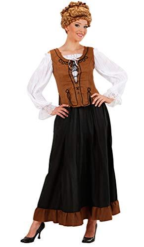 Karneval-Klamotten Magd Marktfrau Bäuerin Mittelalter Kostüm Damen Rock Bluse Korsett Komplettkostüm Größe 42/44
