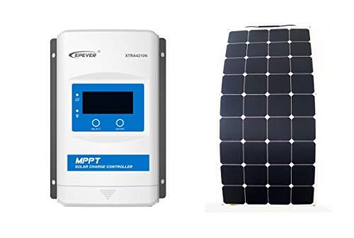 SUNBEAMSYSTEM Starterset Classic C100 (100 Watt) Solar Module mit Laderegler 10A max. 130W Solarmodul Photovoltaik - 100w Classic-serie