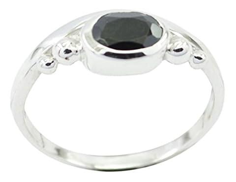 Invitant Black Onyx 925 sterling silver black ring gemstones58