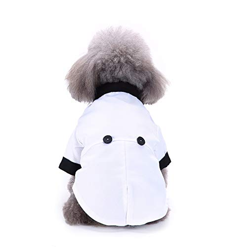HuhuswwBin Elegante Abbigliamento Pet, Puppy Dog Camicia con Papillon Formale Tuxedo Wedding Party Costume