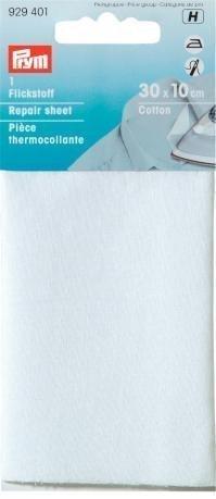 Flickstoff Cotton 12 x 45 cm weiß zum Bügeln 929401