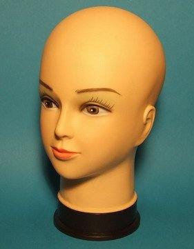 Perückenkopf Schaufenster Puppen Kopf Ideal Für Präsentation Von Perücken, Schmuck oder Hütern im Schaufenster
