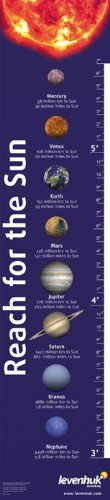 Levenhuk Reach for the Sun Growth Chart glossy paper scale in inches and centimeters by Levenhuk