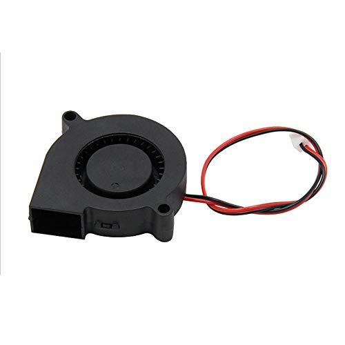 H.Y.FFYH Druckerzubehör 3 Stücke DC 12 V 3D Drucker Lüfter Gebläse Für Kühlung Kühlkörper 3D Drucker (50X50X15mm Schwarz) Rpm-zip