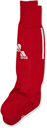 Adidas, calzettoni da calcio santos con 3strisce, university red/bianco, da 43 a45, z56224
