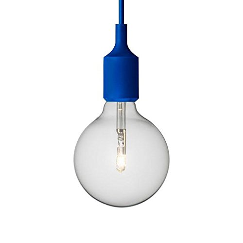 Suspension E27 Douille+Ampoule Torup bleu style Muuto