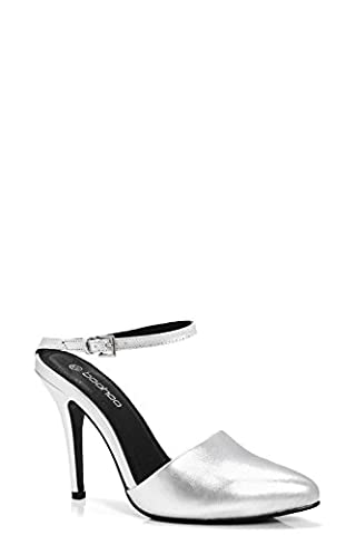 Silver Womens Harriet Pointed Toe Stiletto Mule - 7