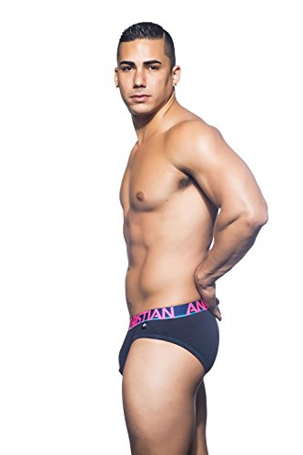 Andrew Christian Herren Slip Fly Tagless Brief Navy