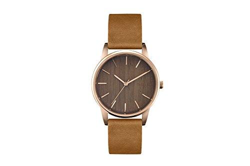 TAKE A SHOT | Armbanduhr | Gracie | Zifferblatt aus Holz | Walnussholz | Holzuhr | Rosegold | 36mm