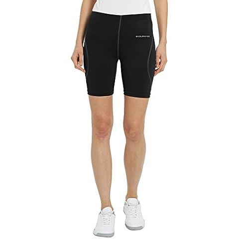 Ultrasport Endurance Sevillia - Pantalones Cortos de Correr para mujer, color negro, talla 38