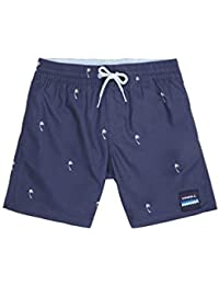 O'NEILL PB Mini Palms Shorts Boardshort Elasticated para niño, Niños, Blue AOP W/Brown-Beige, 140