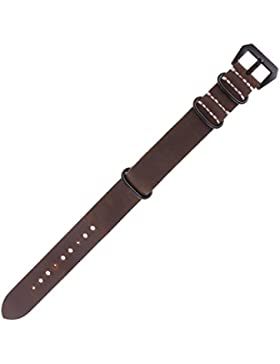 Gazechimp Leder Uhrenarmbänder Edelstahl Gürtelschnalle Herren Geschenk
