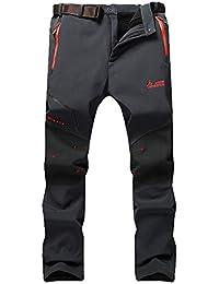 JIANYE Pantalon Softshell Hombre Pantalones de Montaña Impermeable Pantalon Trekking Caliente Pantalones Invierno