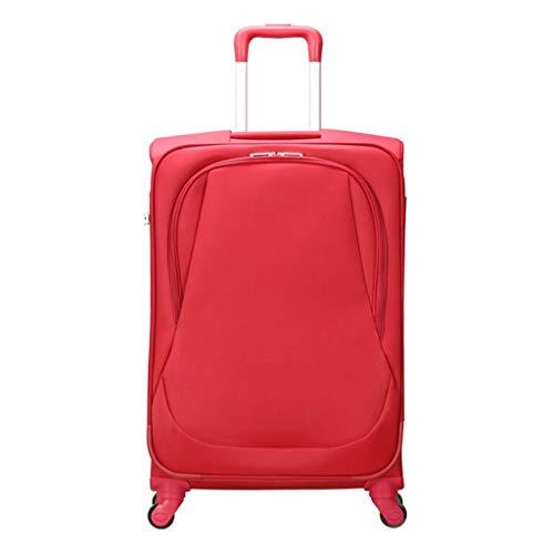 Valigia trolley zhaoshunli viaggio con 4 valigie universali per ruote, valigie morbide, uomini e donne, valigie, nuovo elenco speciale (colore : rosso, dimensioni : 28 inches)