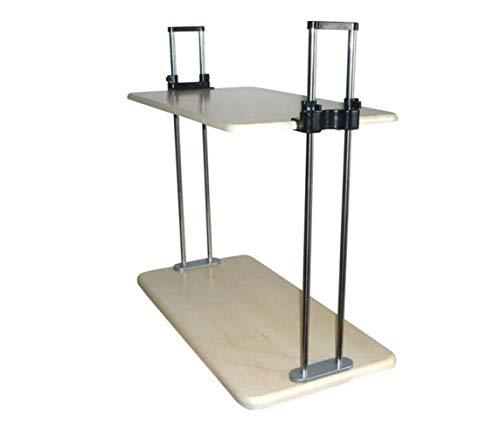 eibtisch, Der Zum Sitzen Steht Mobile Computer Desk Computer Desk Drop-Leaf-Tabelle,A,Schreibtisch ()