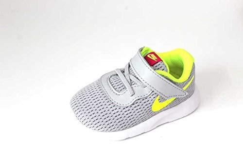 Nike Unisex Baby Tanjun (TDV) Niedrige Hausschuhe, Mehrfarbig (Wolf Grey/Volt/Rush Pink 000), 21 EU