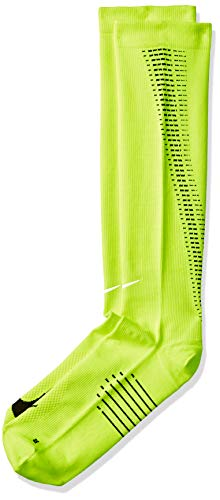 Nike Herren Elite Lightweight Compression Over-the Calf Socken, gelb (Volt / Schwarz / Reflektierendes Silber), 44-45.5 -