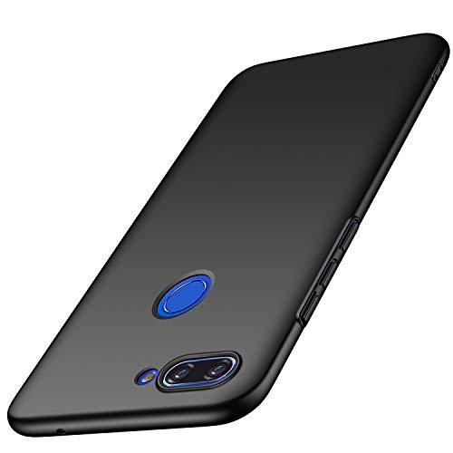 AOBOK Tampa Xiaomi Mi Lite 8, 8 Xiaomi Mi Lite Case, Ultrafino Matte Hard Cover, scratch, Fall, escorregar, Choque Case for Xiaomi Mi 8 Smartphone Lite, Preto