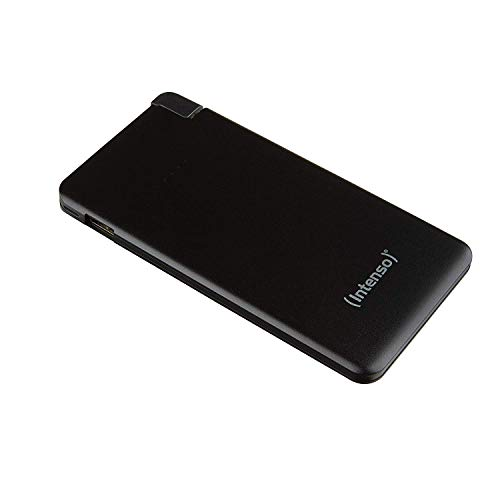 Intenso Powerbank S5000 Slim externes Ladegerät (5000mAh, für Smartphone/Tablet PC/MP3 Player/Digitalkamera) schwarz