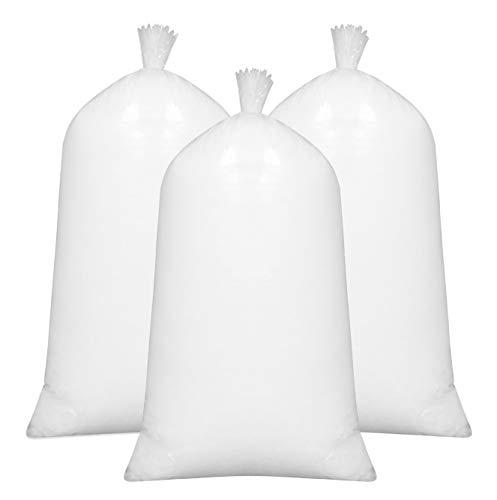ZOLLNER 3er Set Füllmaterial, 100% silikonisierte Polyesterhohlfasern, 3X 1kg, weiß