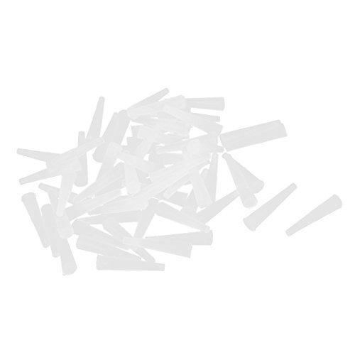 DealMux 15mmx3.5mmx1.6mm Silikon-Gummi-Stopper Kegel Stecker Weiß 60pcs (Gummi Kegel Stecker)