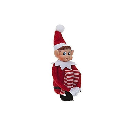 Elves Behavin' Badly 34634 Xmas Festive Smiley Face Elf Soft Toy