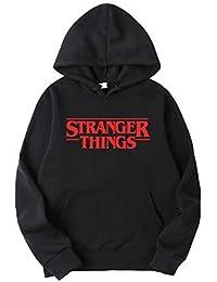 Sudadera Stranger Things Hombres, Sudadera Stranger Things Mujer con Capucha Niña y Niños Deporte Casual Impresión Suéter Sudadera Stranger Things Temporada 3 Impresión Suéter