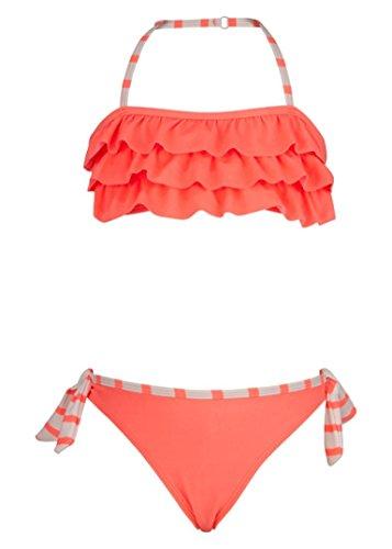 Snapper Rock Mädchen Bandeau Bikini, Neon, 128-134cm/7-8 Jahre (Bandeau Mädchen Bikini)