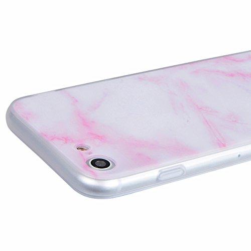 Coque iPhone 6, HB-Int 3 en 1 Housse Etui pour iPhone 6S Originale Motif Coque TPU Silicone Case Cover avec Ultra Fine Arrière Housse Rugged Slim Dual Layer Protective PC Couverture Légère Flexible Fo Rose