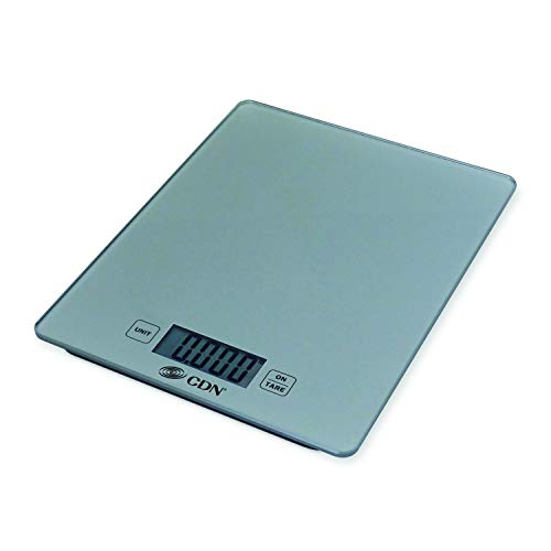 CDN SD1102-S ProAccurate Digital Glass Kitchen Scale, 11 lb, Silver