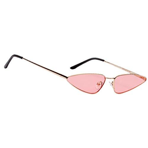 Baoblaze Feinzwirn Vintage Sonnenbrille mit trendigen Retro Brille Mini Cat Eye Designer Brillen - Rosa