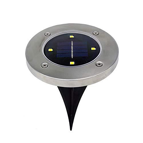 LILICAT 4PCS Unter Licht LED Unterbauleuchten Unterwasser LED-Nachtlicht Outdoor Solarenergie Einbauleuchten Unter Licht Für Pfad Garten (Weiß)