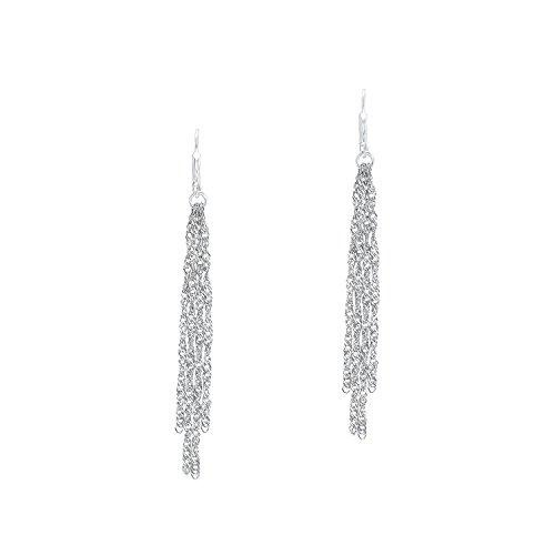 Amor Damen-Ohrhänger 8 cm 925 Sterling Silber rhodiniert Brisurverschluss