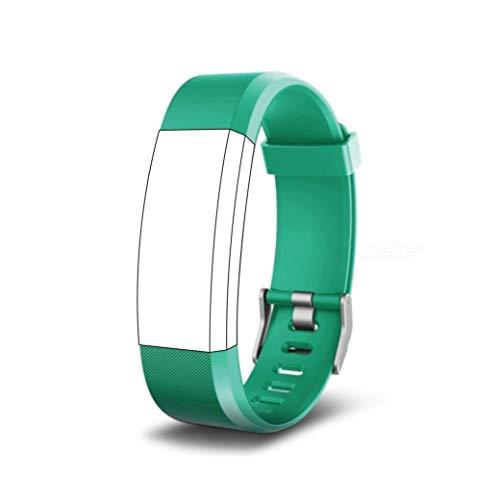 endubro Ersatzarmband für Fitness Tracker ID115 HR Plus & viele weitere Modelle aus hautfreundlichem TPU & nickelfreiem Verschluss (Grün)