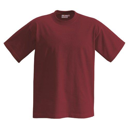 T-Shirt Heavy, Weinrot, L