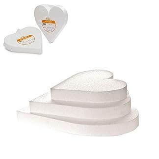 Decora maniquí de poliestireno en Forma de corazón para decoración de Pasteles, Blanco,