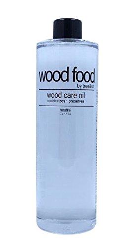 WOOD FOOD [Hautpflege für Holz und Bambus] Holzpflegeöl Für Schneidebretter, Möbel und Holzspielzeug (Neutral (Kein Duft), 400ML)