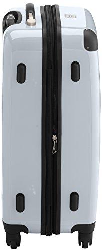 HAUPTSTADTKOFFER - Alex - 2er Koffer-Set Hartschale glänzend, TSA, 65 cm + 55 cm, 74 Liter + 42 Liter, Orange-Aubergine Apfelgrün-Weiß