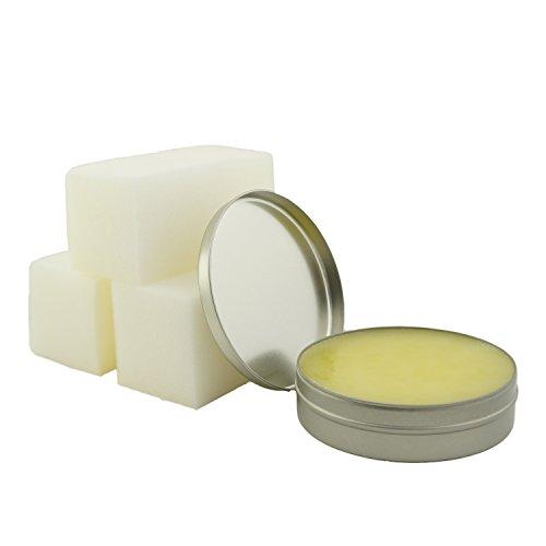 Incutex ökologische Bienenwachs Lederpflege Lederbalsam Lederreiniger mit Schwamm, 150 ml