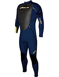 Sola fusión 3 hombres traje completo - Midnight/2 azul, extra grande
