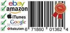 Price comparison product image UPC codes certified by amazon upc codes for sale EAN Numbers GS1 Barcodes for Amazon eBay (5 UPC EAN Barcode Numbers)