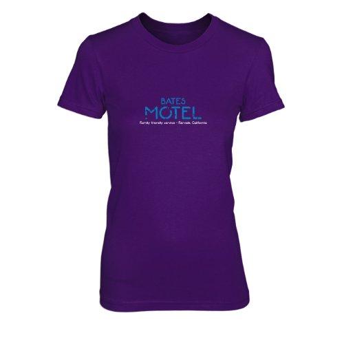 T-Shirt, Größe: XL, Farbe: lila (Hitchcock Psycho Kostüm)