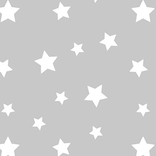 Imagen para Almohada Embarazada y Cojin Lactancia Bebe Funda 100% Algodon Gris con Estrellas Blancas Desenfundable y Lavable Relleno de Fibra Hueca de Poliester Siliconado (ALPHA, GRIS-ESTRELLAS BLANCAS)