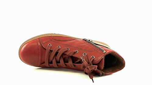 Gabor hoher Damen Schnürschuh 93.753.55, Tucson (Melange) dark-red, UK Rot