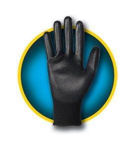 Jackson Safety 13840guanto G40rivestimento in poliuretano dimensioni: 10nero